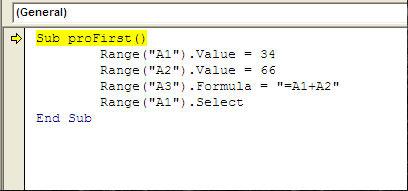 Testing macros in Excel